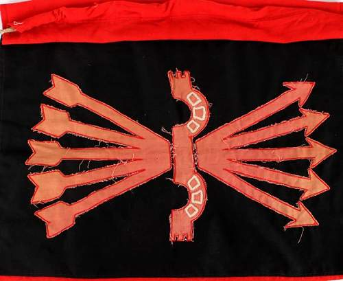 Spanish Civil War Falange Fascist Flag