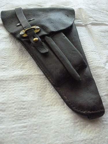 Swedish ammunition belt and pistol holster
