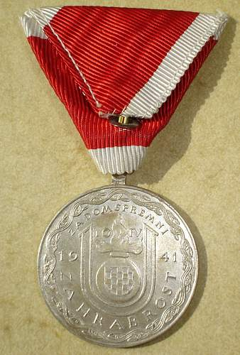 Ante Pavelic Bravery Medal in Silver