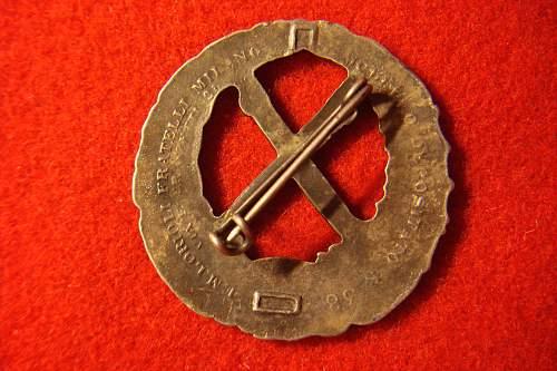 ITALIAN Fronte Russo Badge. Original or Fake ?