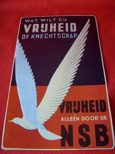 Dutch NSB propaganda poster