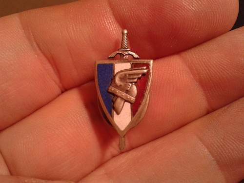 Vichy badges/pins.