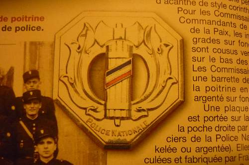 French Groupes Mobile de Reserve (GMR) insignia query.