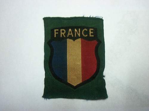 Waffen SS French Volunter's sleeve shield