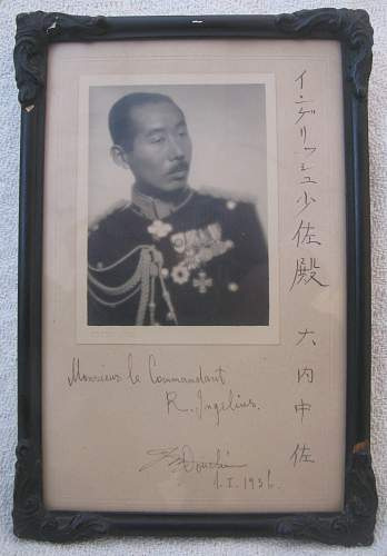 Japanese-Finnish friendship Portrait Photograph, Autographed & Framed