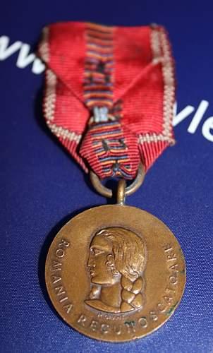 Romanian Crusade Against Communism Medal 1942-1944