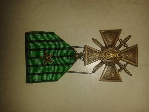 Vichy French Croix de Guerre 1939?