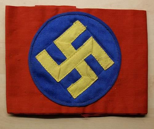 Swedish nazi armband pre ww2