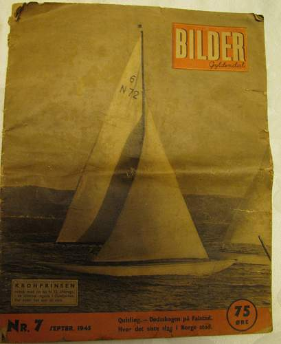 Norwegian magazine ( BILDER ) Sept 1945
