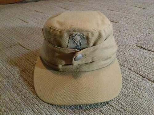 Ww2 German Police M43 Hat Badge: WW2 TROPICAL M43 CAP ITALIAN MADE