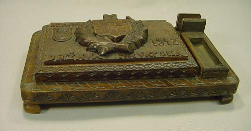Unique Croatian Ustasha Folk-art Desk Set??