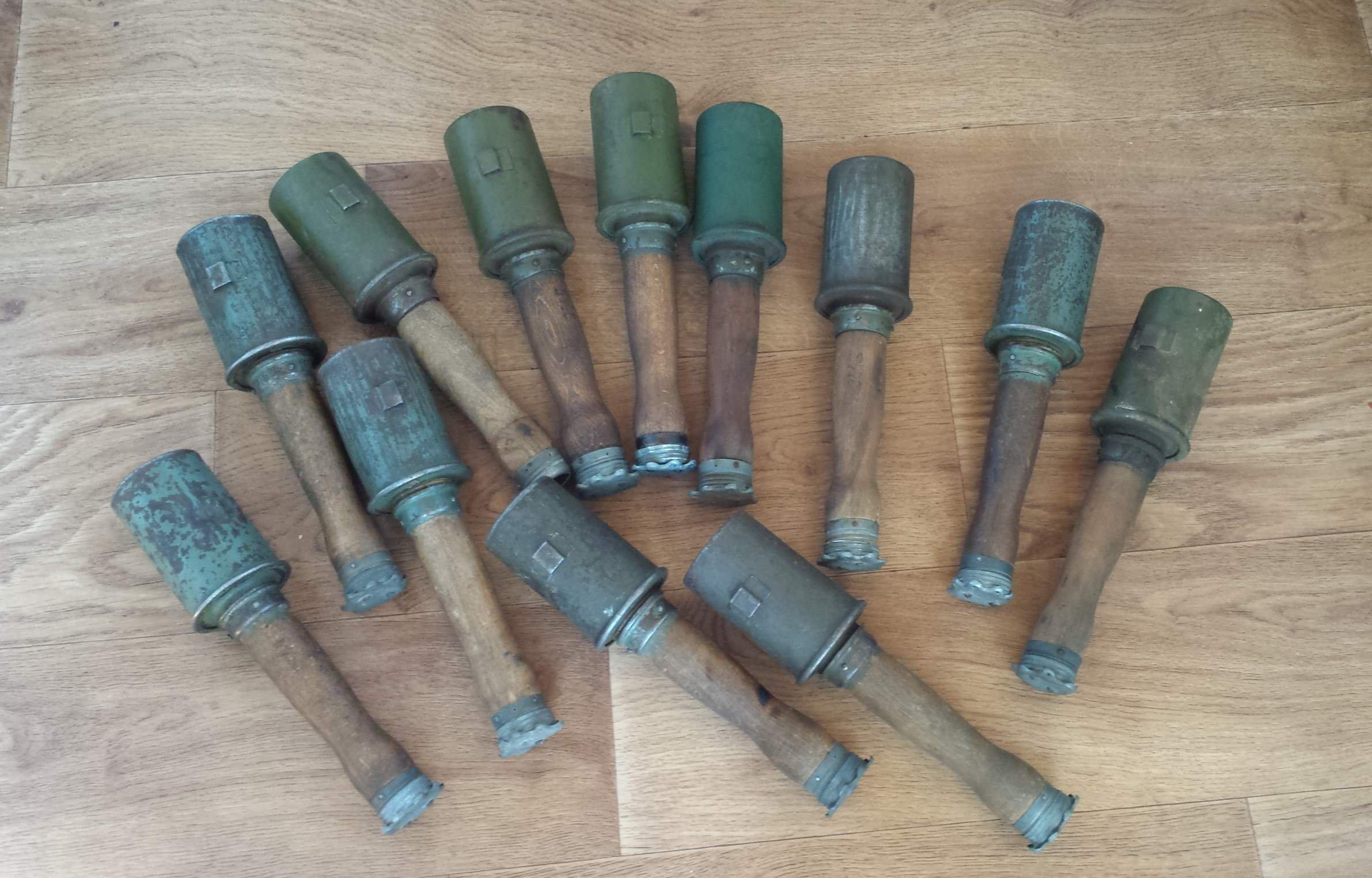 My collection of original bulgarian ww1 and ww2 stick grenades