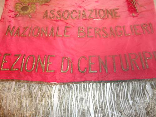 Italian Silk and Gold Banner, Date?  Translation?