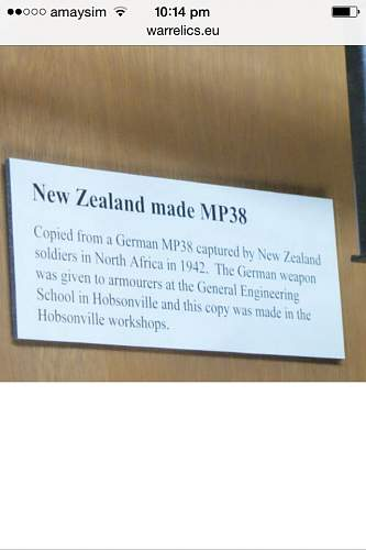 New Zealand made MP38