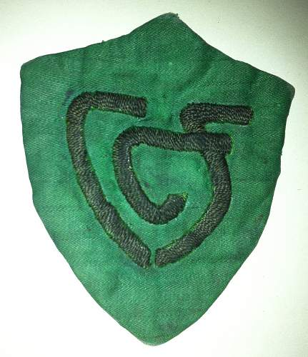 unknown green cotton badge CCF