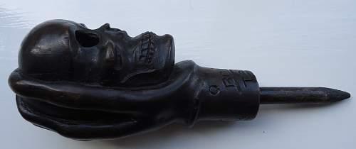Chetnik Skull in Hand Artefact