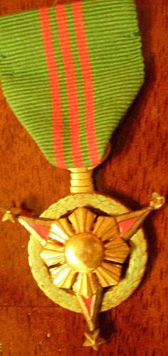 What is this medal with enamel?