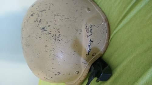 IDing Kevlar Helmet