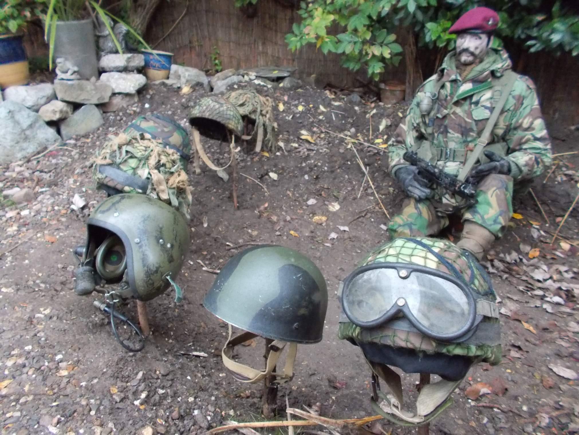 Modern British Para helmet, Falklands conversion  Some help needed