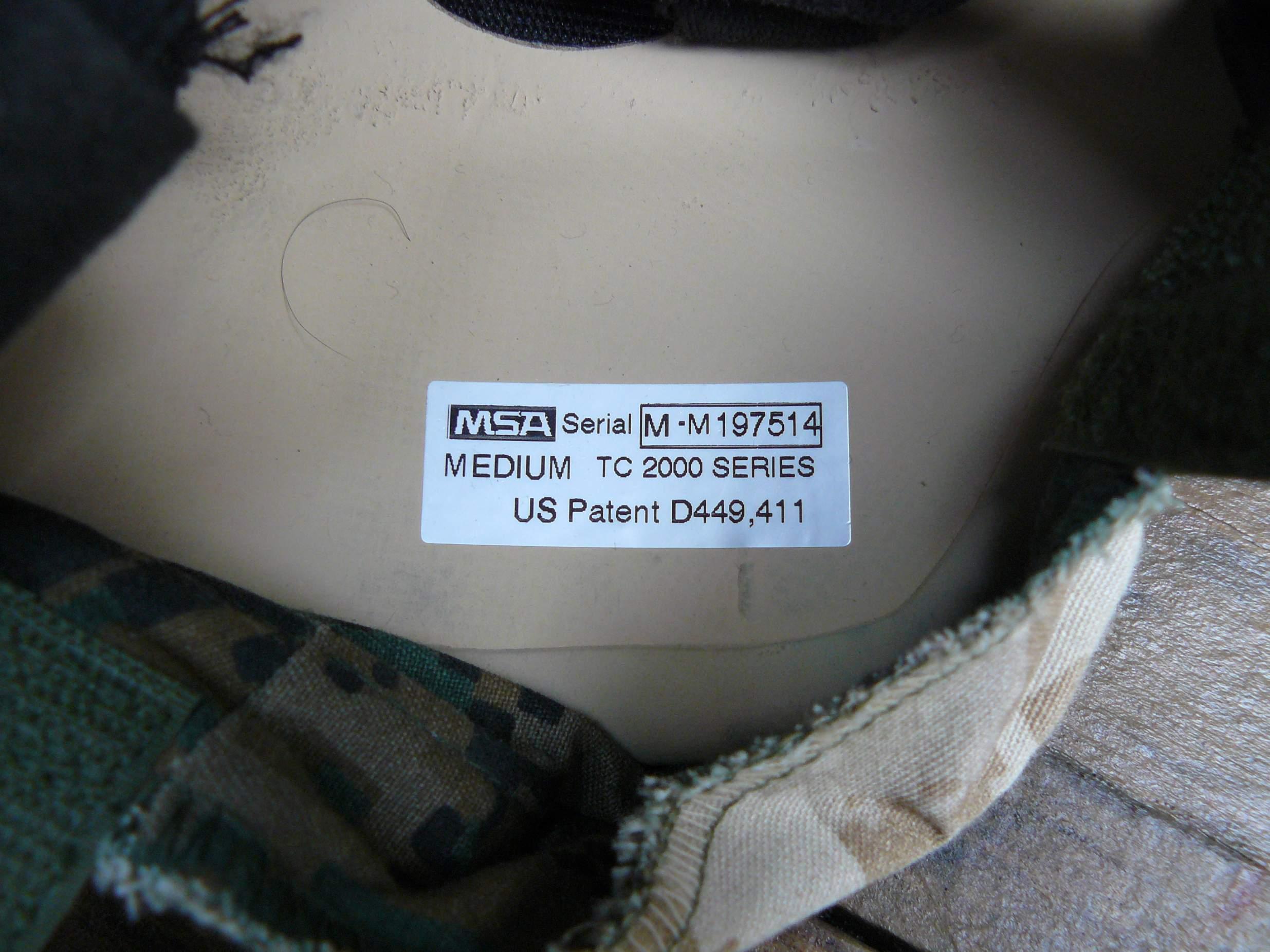 MSA TC 2000 Advanced Combat Helmet (ACH