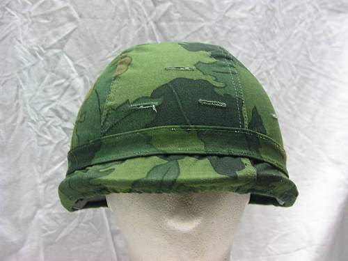 SOUTH KOREAN version of the IRAQI M80 ballistic helmet with leaf camo cover