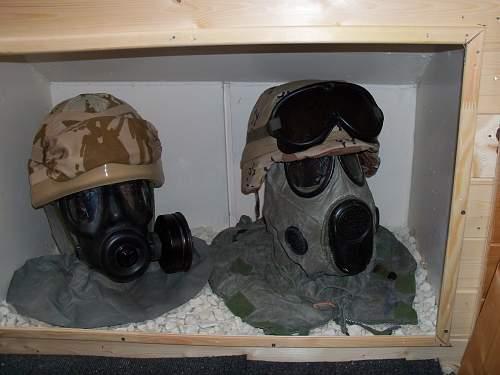 my british mk 6 and us pasgt gulf war helmets