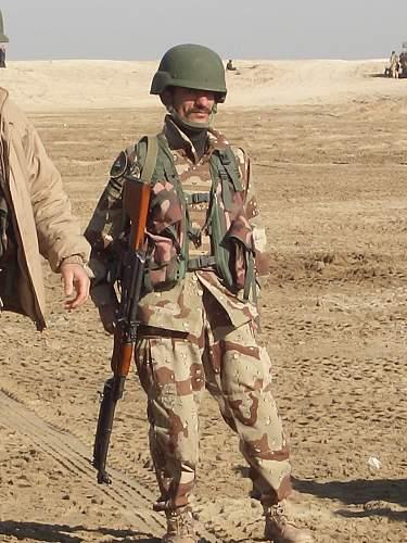 Helmet in Afghanistan 2003 and Iraqi Freedom 2001