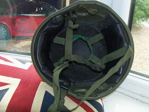 Early Production British GS Mk6 Helmet & Nape Protector.