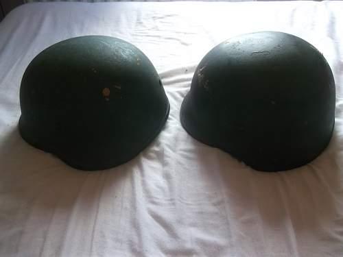 2 new composite helmets