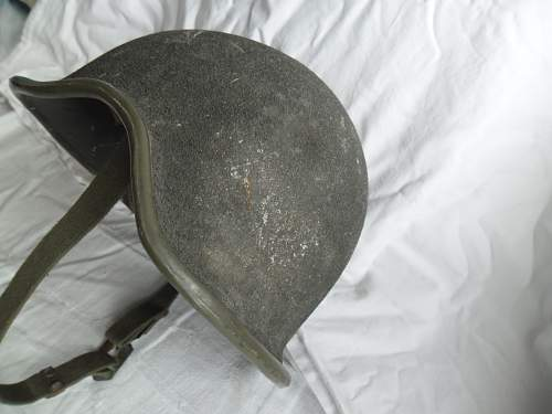 One of the very first compostite helmets!