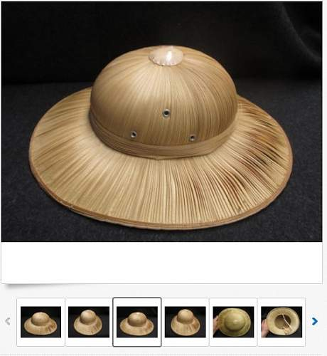 Vietnam civillian made reed sun helmet