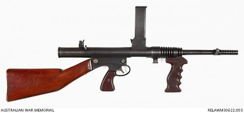 Click image for larger version.  Name:Owen  Gun WWII.JPG Views:0 Size:48.6 KB ID:1013116