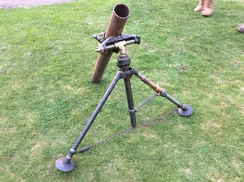 Default French mortar BRANDT model on 1927,restauratio