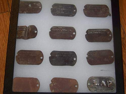 Normandy dog tags collection