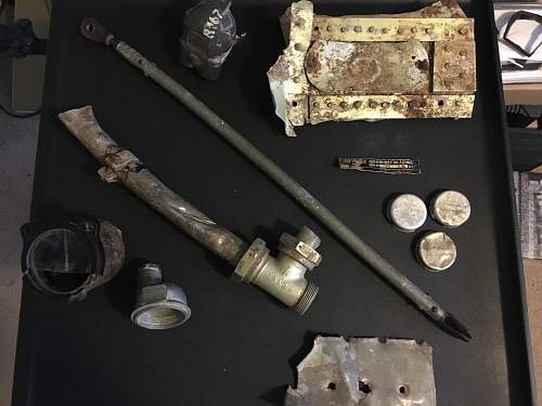 My personal collection of Luftwaffe aircraft relics
