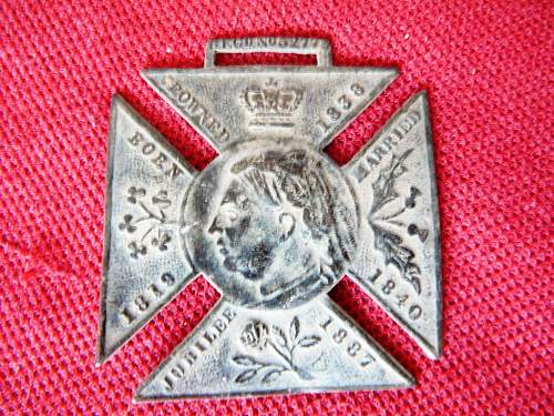 Click image for larger version.  Name:Queen Vicotria Jubilee Medallion 1887  (1) (Medium).JPG Views:0 Size:310.0 KB ID:1157381