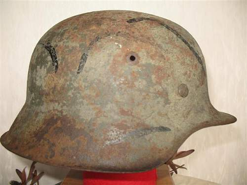 Normandy M40 helmet with decal