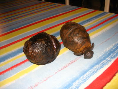 my two dug up M39's from Mont Castre, September 2007.JPG