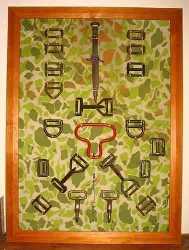 Full set of T5 Buckles, M3 Knife, Reserve pull-handle, original parachute silk DROP ZONE  O  Ste.jpg