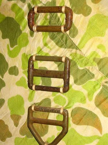 T5 Buckles, good condition with orig paint remaining, used original Rigger Thread for attaching .jpg