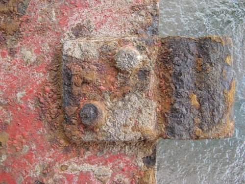 Stalingrad dug metal marker pennant