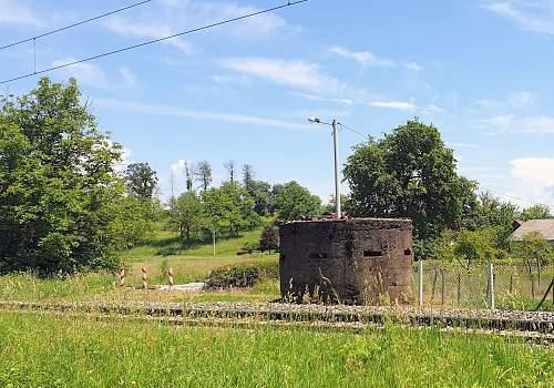 War relics along railroad Croatia