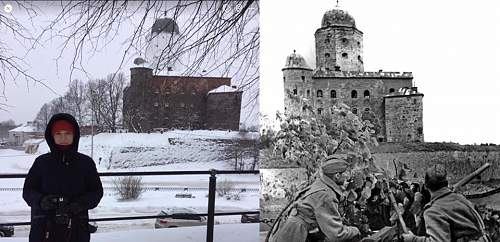 Vyborg, Russia Then & Now
