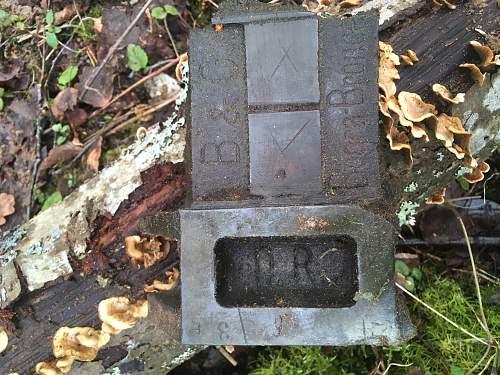 Relics of a blown up railway bridge.