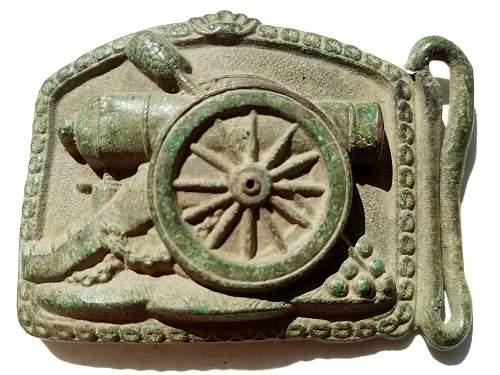 Very old Artillery belt buckle identification