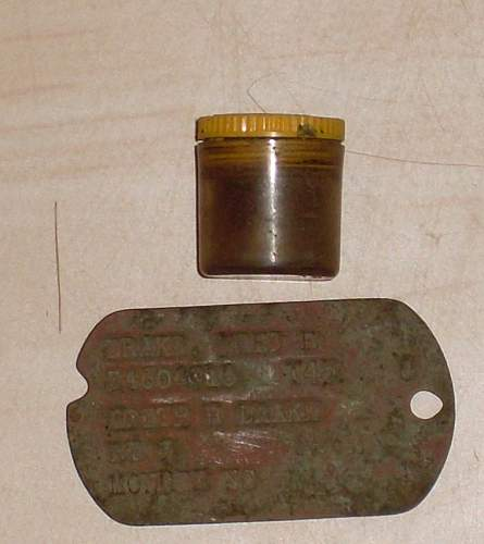 Norden bombsight data plate from 8th airforce base