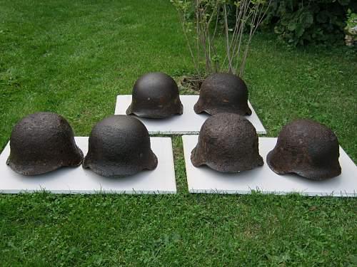 Our last found - 6 Stahlhelme