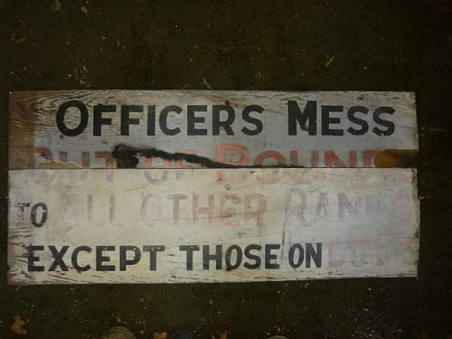 an origional painted airfield sign made from packing case