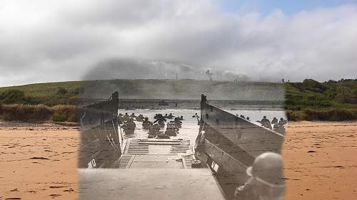 Normandie 1944 - Then and now