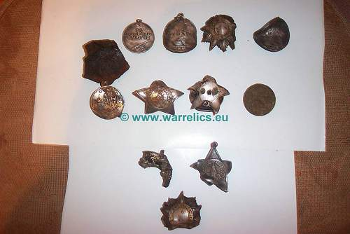 Soviet awards recovered from the stuff location